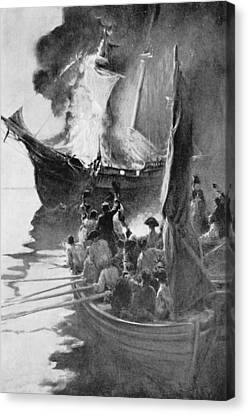 Brandywine Canvas Print - Burning Of The Gaspee, Illustration From Colonies And Nation By Woodrow Wilson, Pub. In Harpers by Howard Pyle
