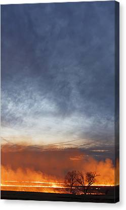 Canvas Print featuring the photograph Burning by Scott Bean