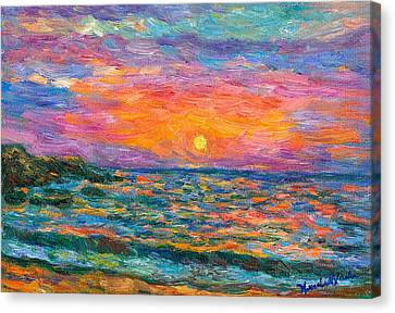 Burning Shore Canvas Print by Kendall Kessler