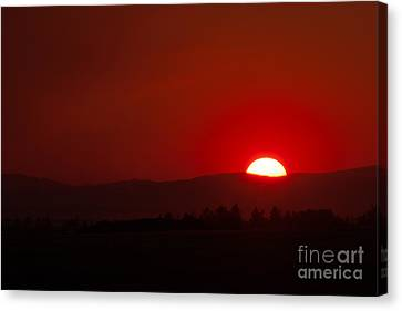 Burning Sky Canvas Print by Charles Kozierok