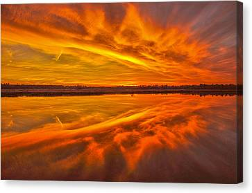 Canvas Print - Burning Sky by Donnie Smith