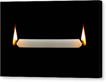 Burning The Candle At Both Ends Canvas Print