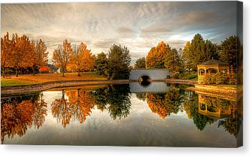 Burning Trees Canvas Print by Anthony J Wright