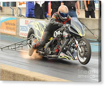 Burning Up The Track Canvas Print