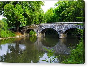 Burnside's Bridge Canvas Print by Bill Cannon