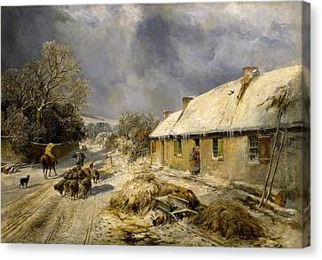 Burnss Cottage, Alloway, 1876 Canvas Print