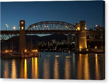 Burrard Bridge In The Evening Canvas Print