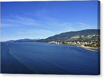 Burrard Inlet Vancouver Canvas Print by Aged Pixel