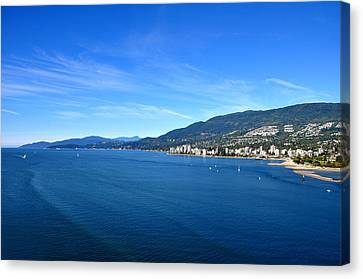 Stanley Park Canvas Print - Burrard Inlet Vancouver by Aged Pixel