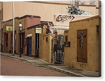 Winter Canvas Print - Burro Alley In Santa Fe New Mexico by Dave Dilli