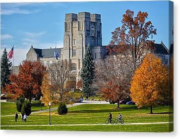 Burruss Hall Canvas Print by Mitch Cat
