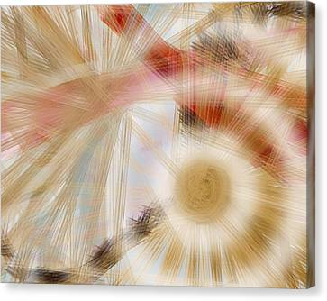 Bursting Brushes Canvas Print by Constance Krejci