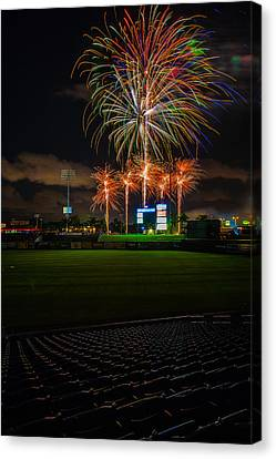 Bursting In Air Canvas Print by Jeff Donald