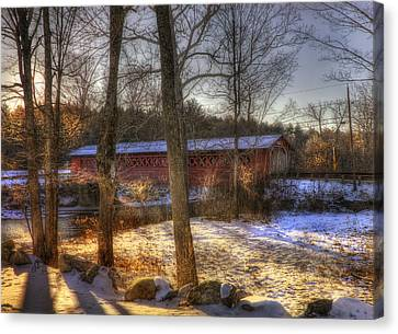 Burt Henry Covered Bridge - Vermont Canvas Print by Joann Vitali