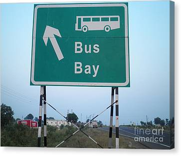 Bus Bay Canvas Print