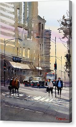 Bus Stop - Chicago Canvas Print by Ryan Radke
