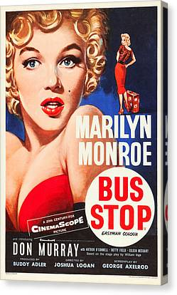 Bus Stop Canvas Print by MMG Archives