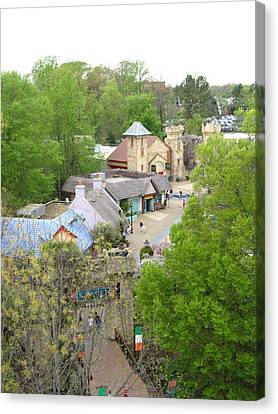 Canvas Print featuring the photograph Busch Gardens - 12122 by DC Photographer