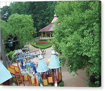 Coaster Canvas Print - Busch Gardens - 121228 by DC Photographer