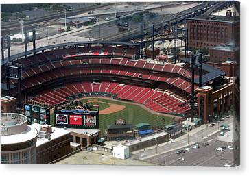 Busch Memorial Stadium Canvas Print by Thomas Woolworth