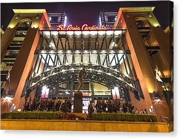 Mlb Canvas Print - Busch Stadium St. Louis Cardinalsstan Musial by David Haskett