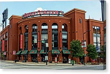 Busch Stadium Home Of The St Louis Cardinals Canvas Print by Greg Kluempers