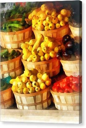 Bushels Of Flavor Canvas Print by Susan Savad