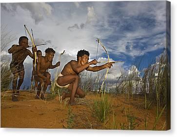 Bushmen - Desert Hunters 02 Canvas Print by Basie Van Zyl