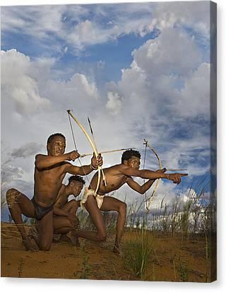 Bushmen - Desert Hunters 03 Canvas Print by Basie Van Zyl