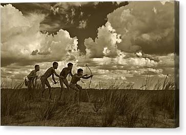Bushmen - Desert Hunters 05 Canvas Print by Basie Van Zyl