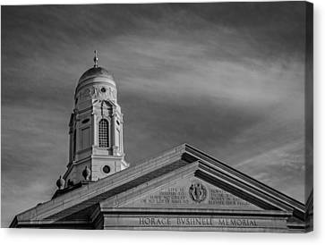 Bushnell Memorial Inscription Canvas Print by Phil Cardamone