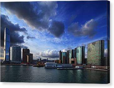 Canvas Print featuring the photograph Business Harbour by Afrison Ma