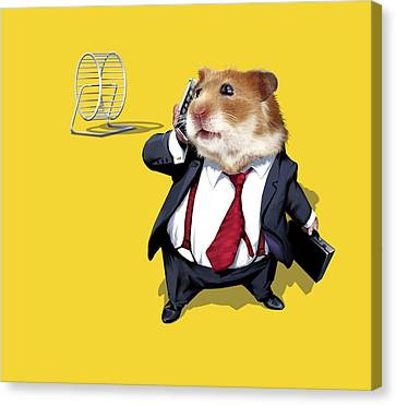 Gerbil Canvas Print - Business Lifestyle, Conceptual Artwork by Science Photo Library