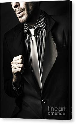 Business Spy In Opulent Modern Suit Canvas Print by Jorgo Photography - Wall Art Gallery