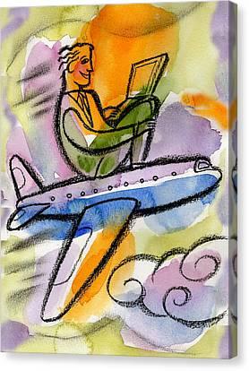 Business Trip Canvas Print by Leon Zernitsky