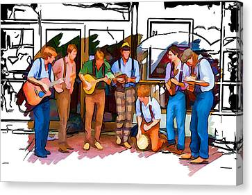 Busker Band Canvas Print