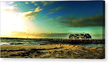 Busselton Jetty Canvas Print by Yew Kwang
