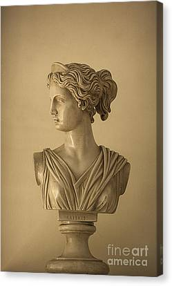 Bust Of Artemis Canvas Print