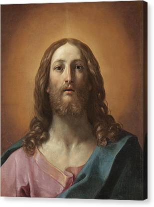 Bust Of Christ Canvas Print by Guido Reni