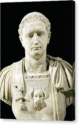 Bust Of Emperor Domitian Canvas Print