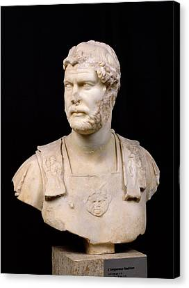 Bust Of Emperor Hadrian Canvas Print by Anonymous