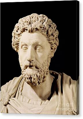 Bust Of Marcus Aurelius Canvas Print by Anonymous