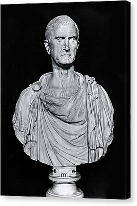 Bust Of Marcus Licinius Crassus Canvas Print by Roman