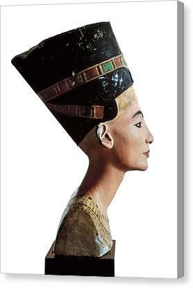 Bust Of Nefertiti. S.xiv Bc. 18th Canvas Print by Everett