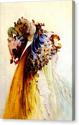 Bust Of Woman Profile Canvas Print