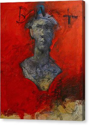 Canvas Print featuring the painting Bust Ted - With Sawdust And Tinsel  by Cliff Spohn