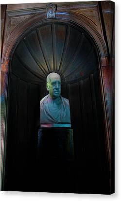 Bust With Coloured Lights Paxton House Canvas Print by Niall McWilliam