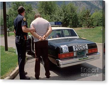 Law Enforcement Canvas Print - Busted by Jerry McElroy