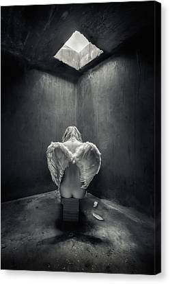 Sorrow Canvas Print - Busted by Petar Lupic