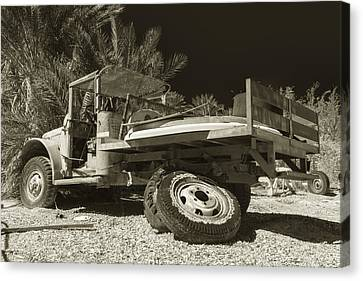 Busted Willys Mb Sepia Canvas Print by Scott Campbell